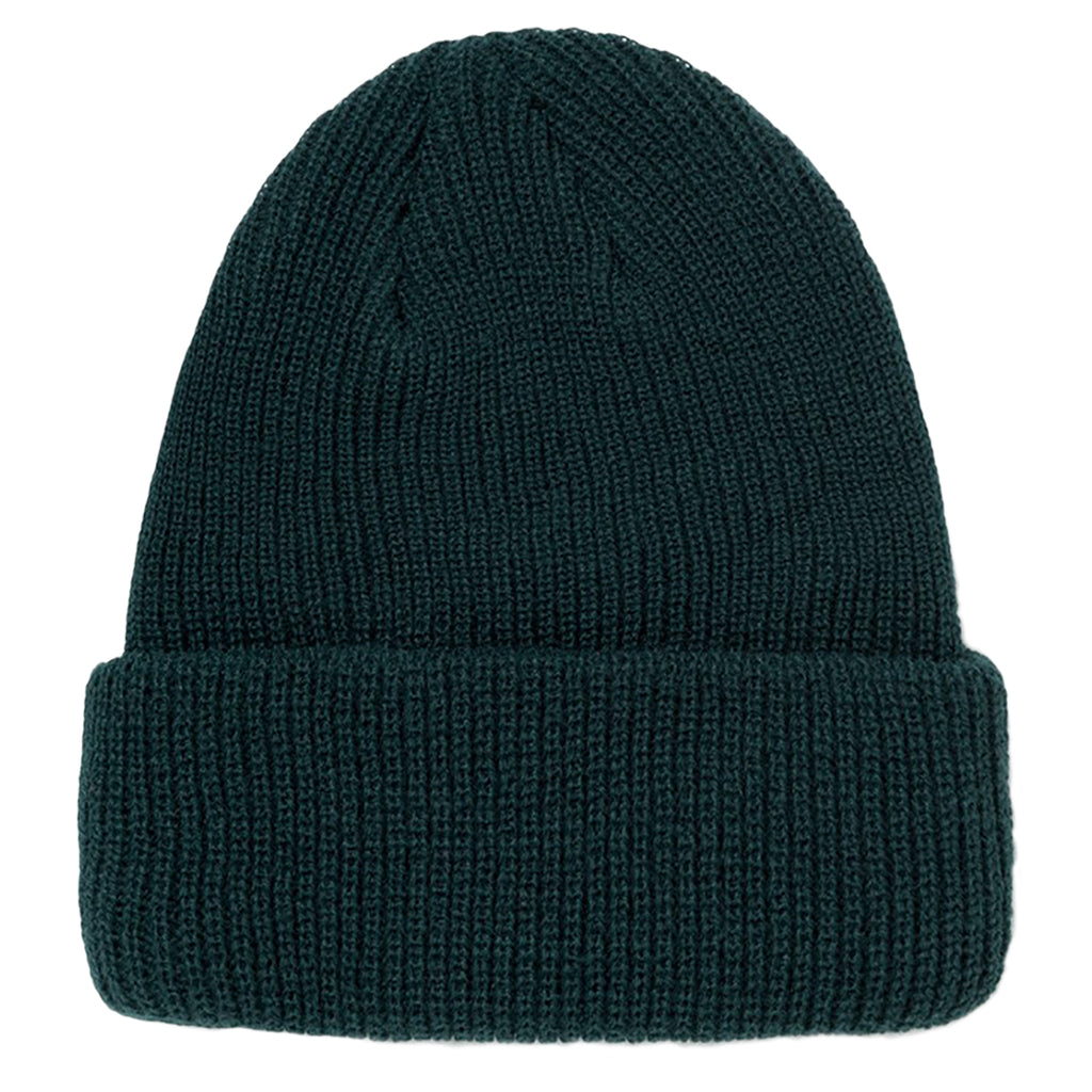 Stussy Basic Cuff Beanie in Pine - Back