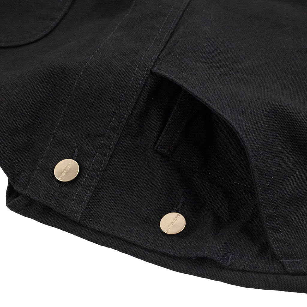 Carhartt WIP Bib Overall in Black Rinsed - Button