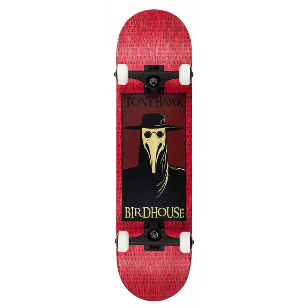 Birdhouse Skateboards Red Plague Doctor Complete Skateboard in 8""