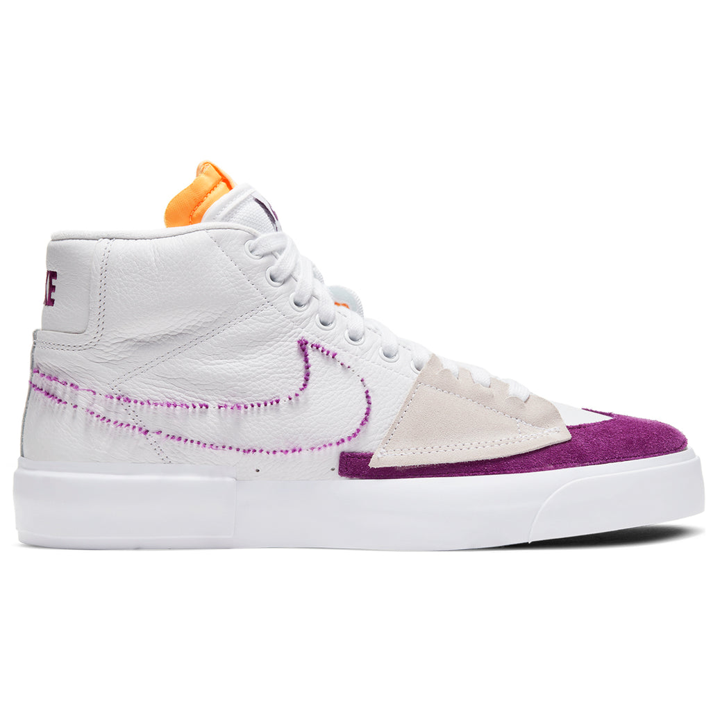 Nike SB  Zoom Blazer Mid Edge Shoes in White / Viotech - White