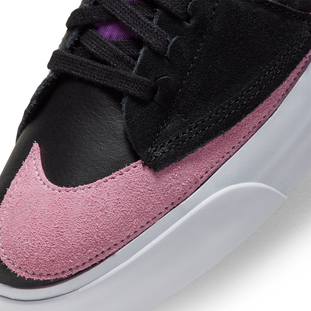 Nike SB  Zoom Blazer Mid Edge Shoes - Black / Pink Rise - White - Purple Nebula
