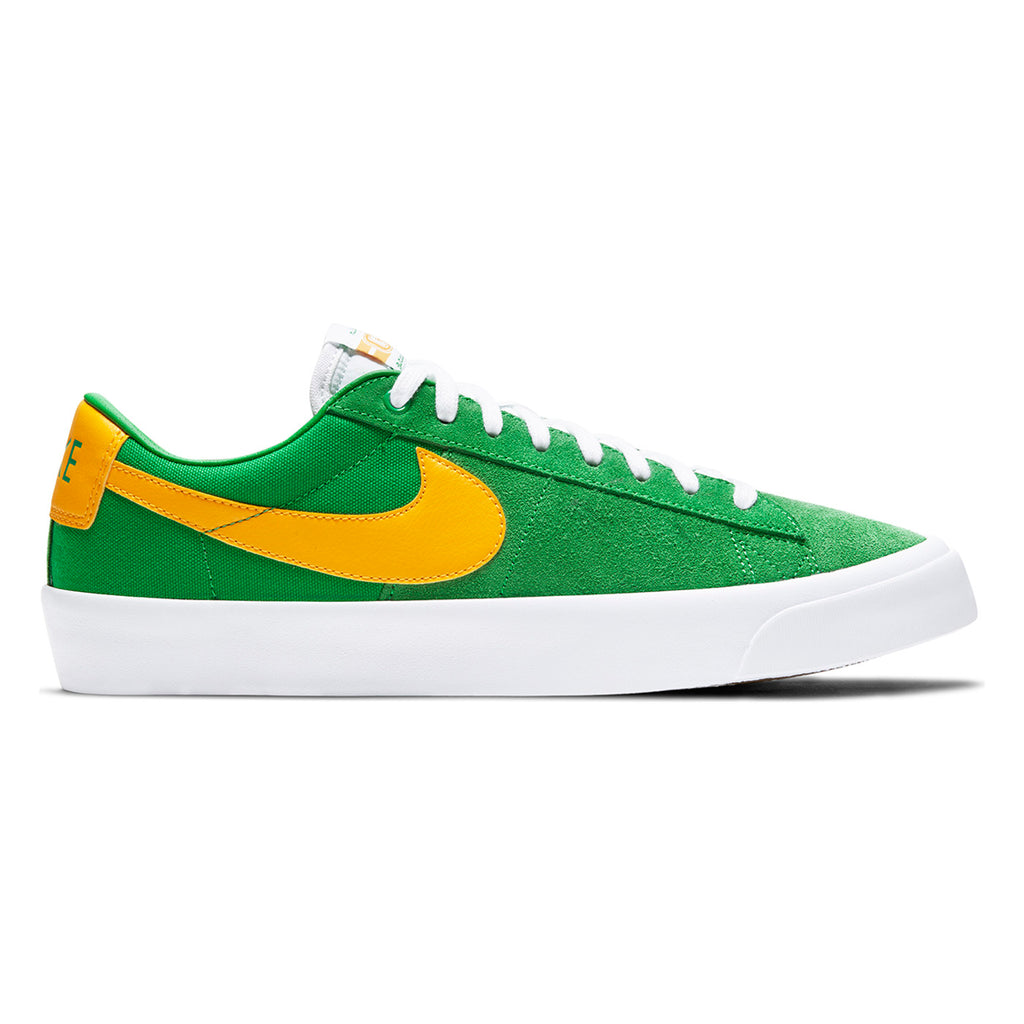 Nike SB Zoom Blazer Low Pro GT Shoes in Lucky Green / University Gold