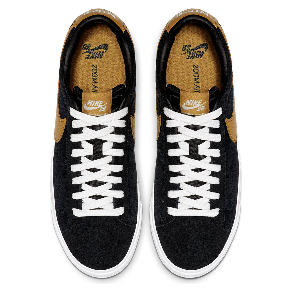 Nike SB Zoom Blazer Low GT Shoes in Black / Wheat - Summit White - Pair