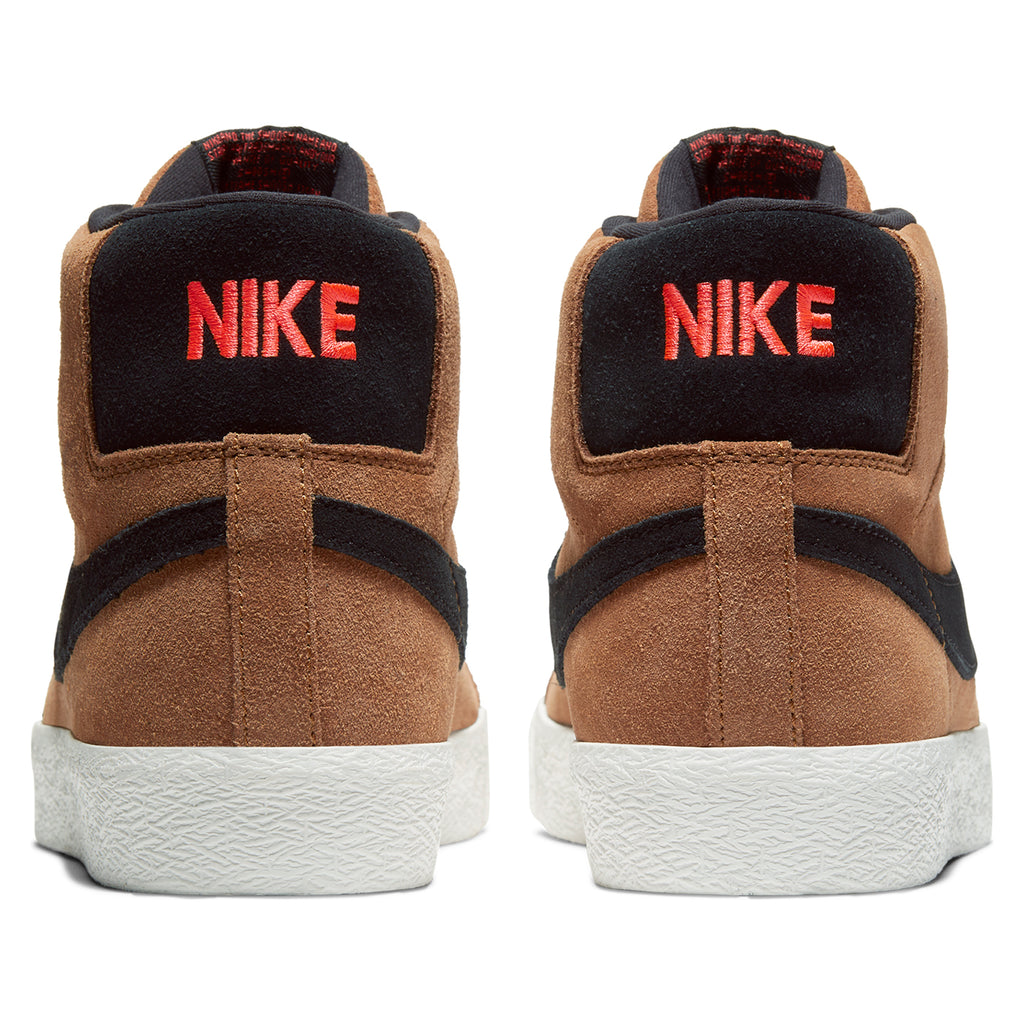 Nike SB Zoom Blazer Mid Shoes in Lt British Tan / Black - Heel