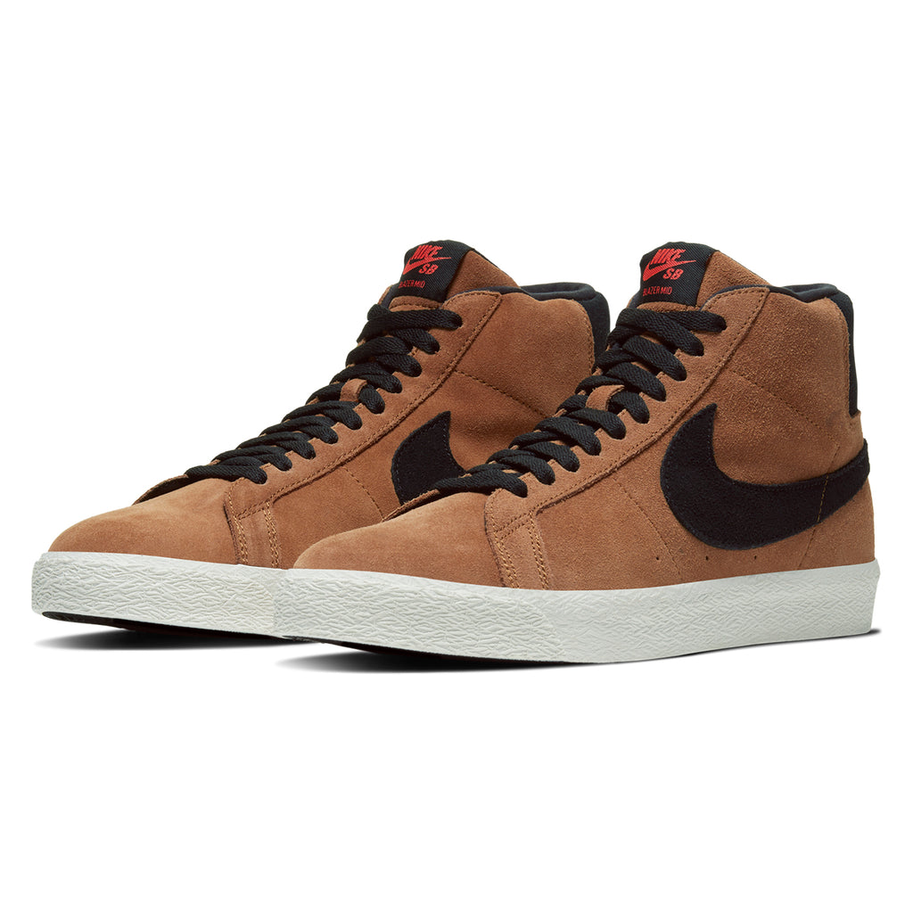 Nike SB Zoom Blazer Mid Shoes in Lt British Tan / Black - Pair