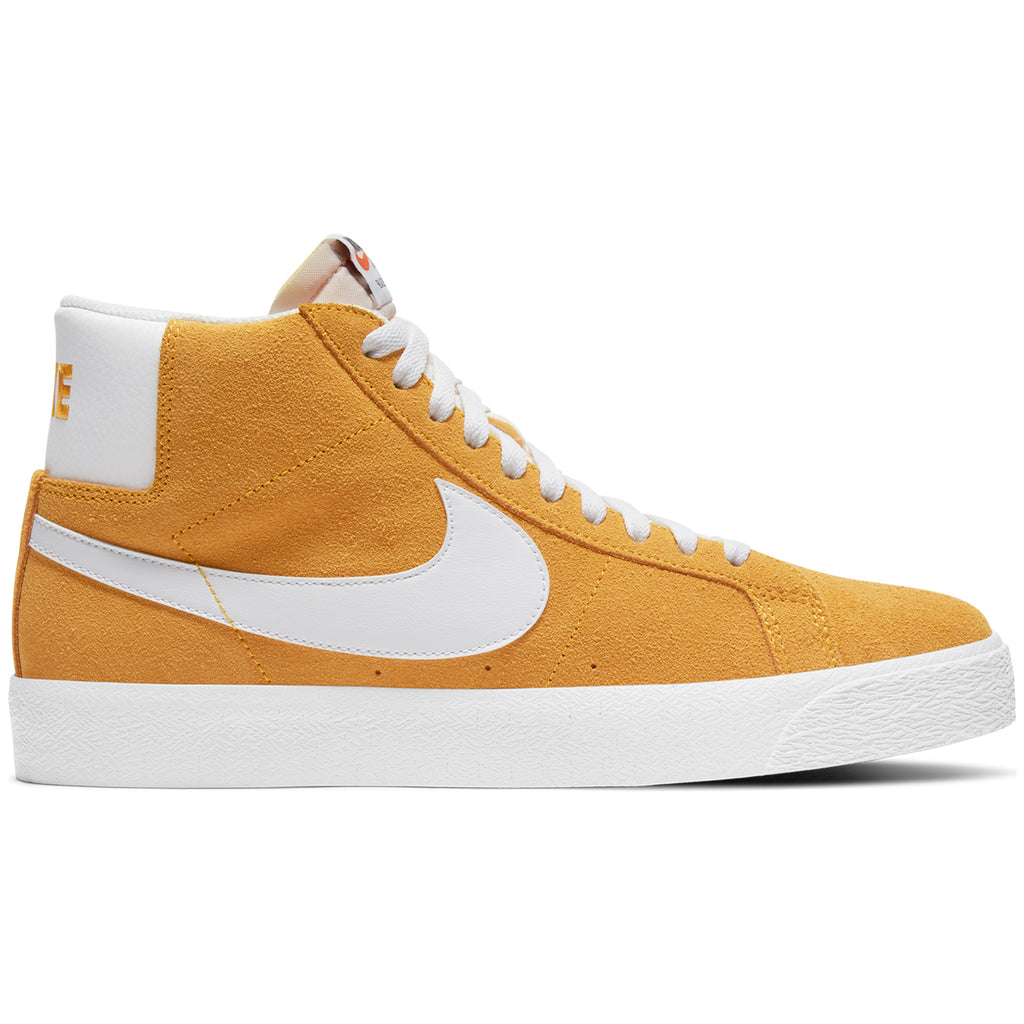 Nike SB Zoom Blazer Mid Shoes in University Gold / White