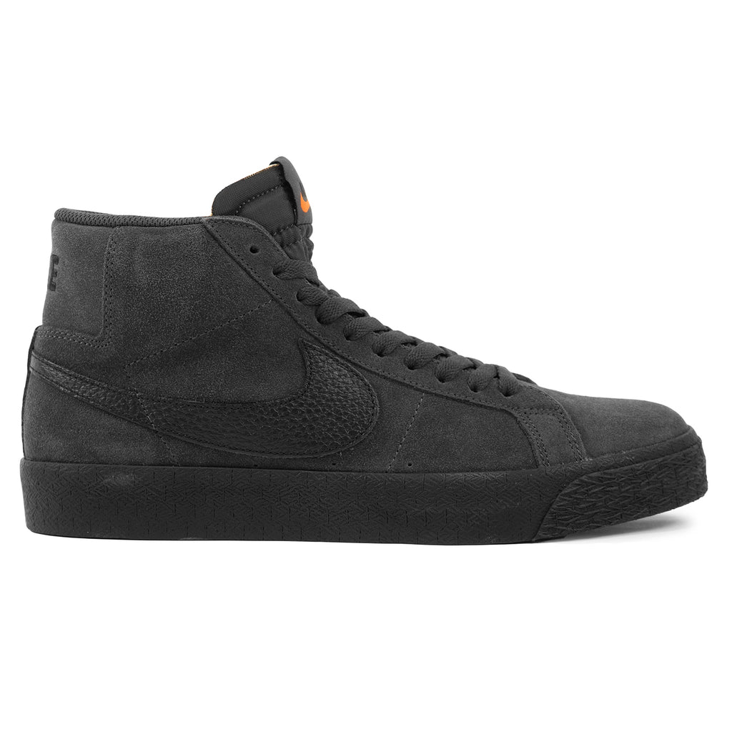 Nike SB Orange Label Zoom Blazer Mid Shoes in Dark Smoke Grey / Black