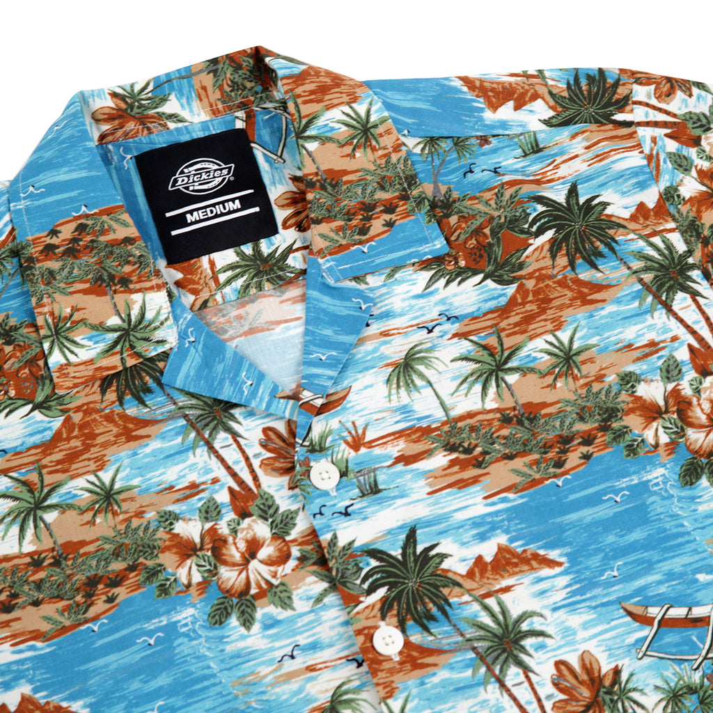 Dickies Blossvale Shirt in Ocean - Detail