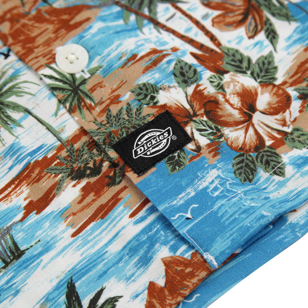 Dickies Blossvale Shirt in Ocean - Label