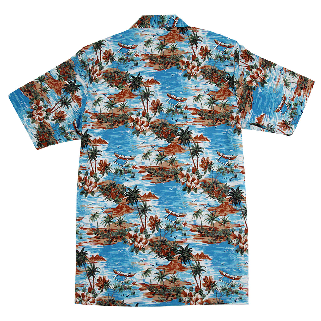 Dickies Blossvale Shirt in Ocean - Back
