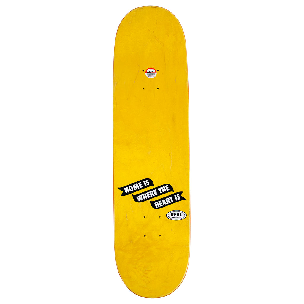 "Real Skateboards x Bored of Southsea Skateboard Deck in 8.25"" - Top"