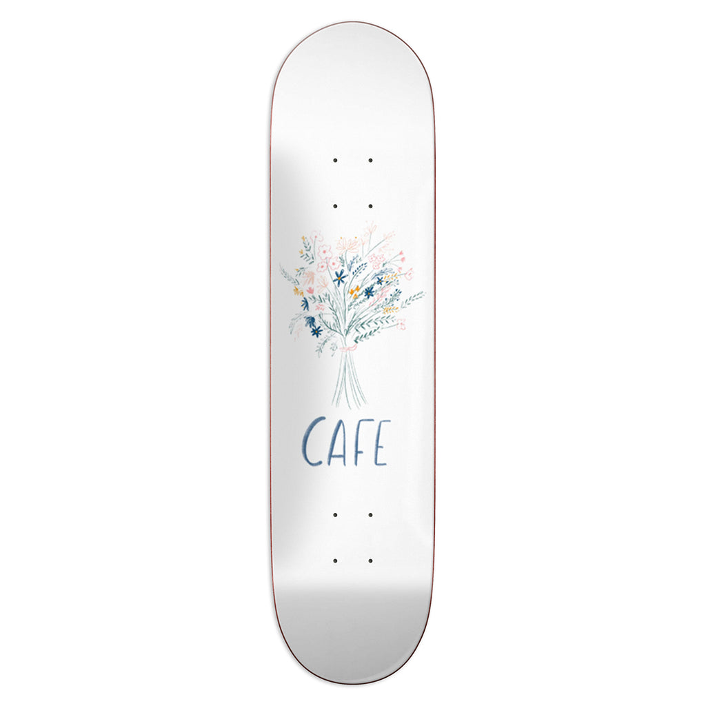 Skateboard Cafe Bouquet White Skateboard Deck in 8.375""""