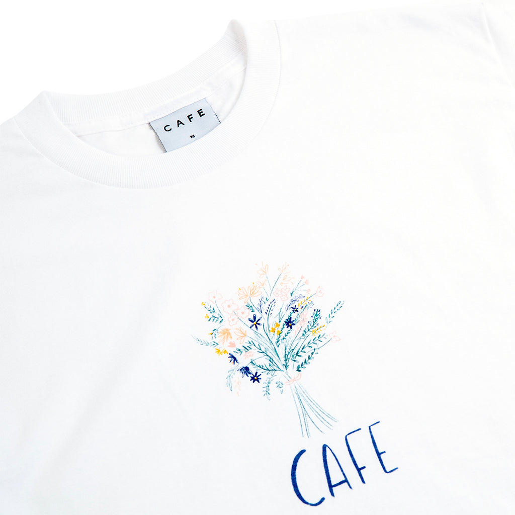 Skateboard Cafe Bouquet T Shirt - White
