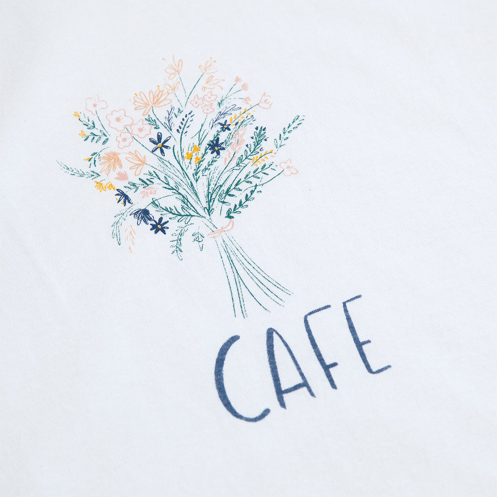 Skateboard Cafe Bouquet T Shirt in White - Print