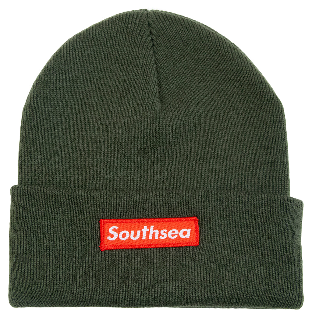 "Bored of Southsea ""Southsea"" Beanie in Olive"