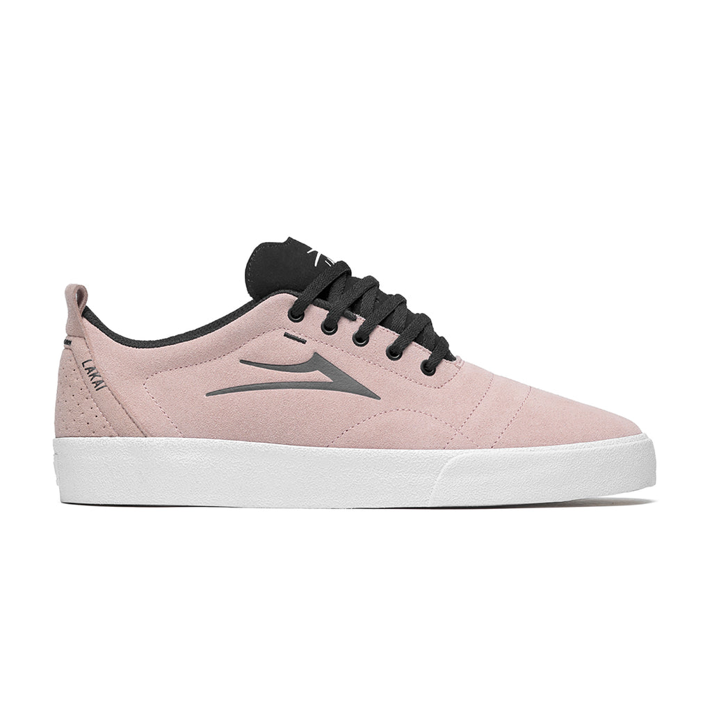 Lakai Bristol Skate Shoes in Rose Suede