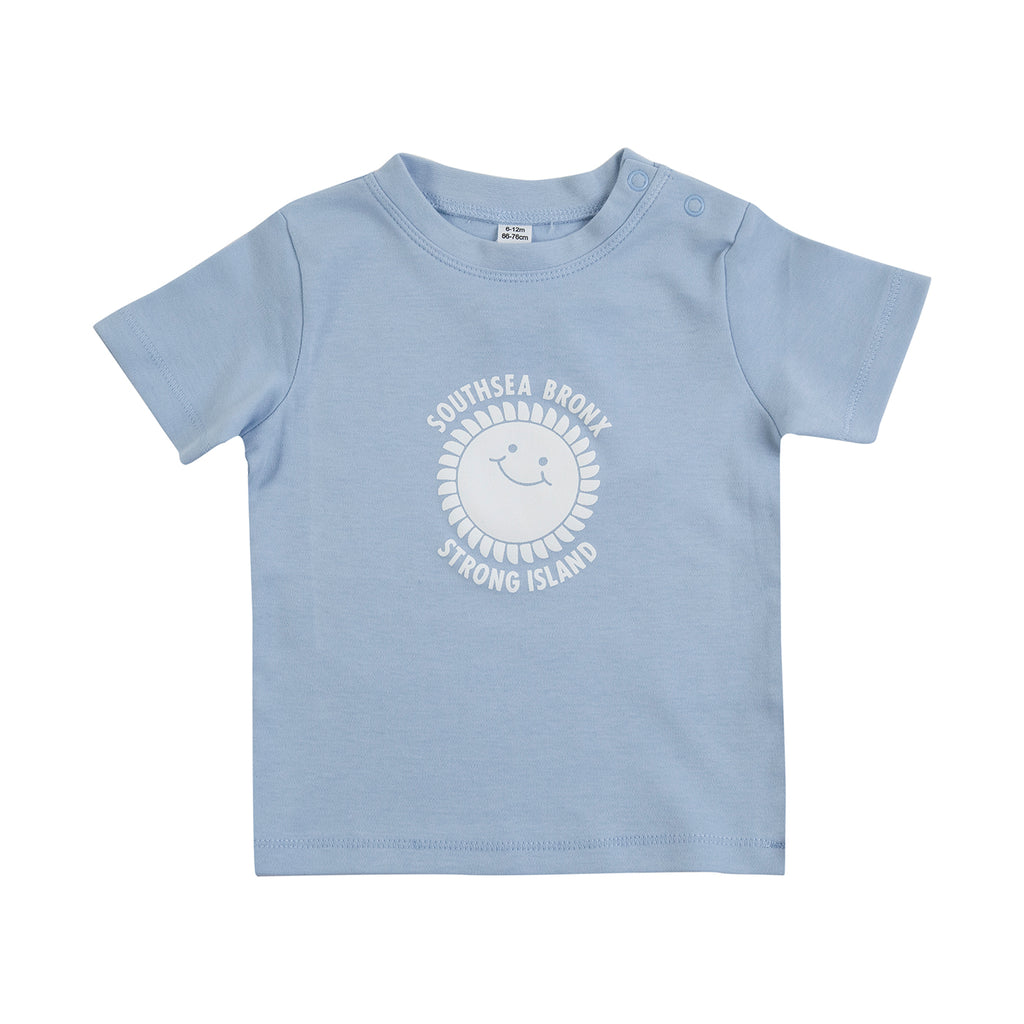 Southsea Bronx Strong Island Baby T Shirt in Sky Blue