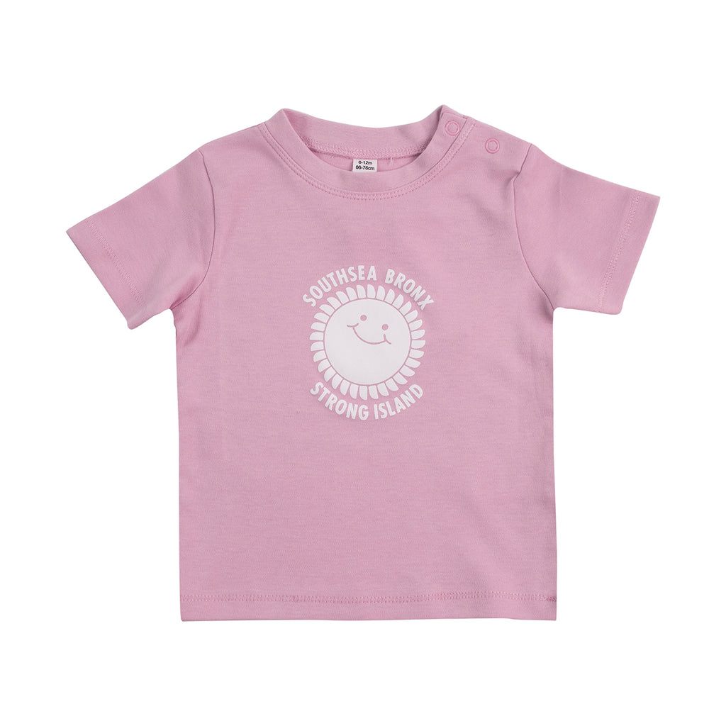 Southsea Bronx Strong Island Baby T Shirt in Pink