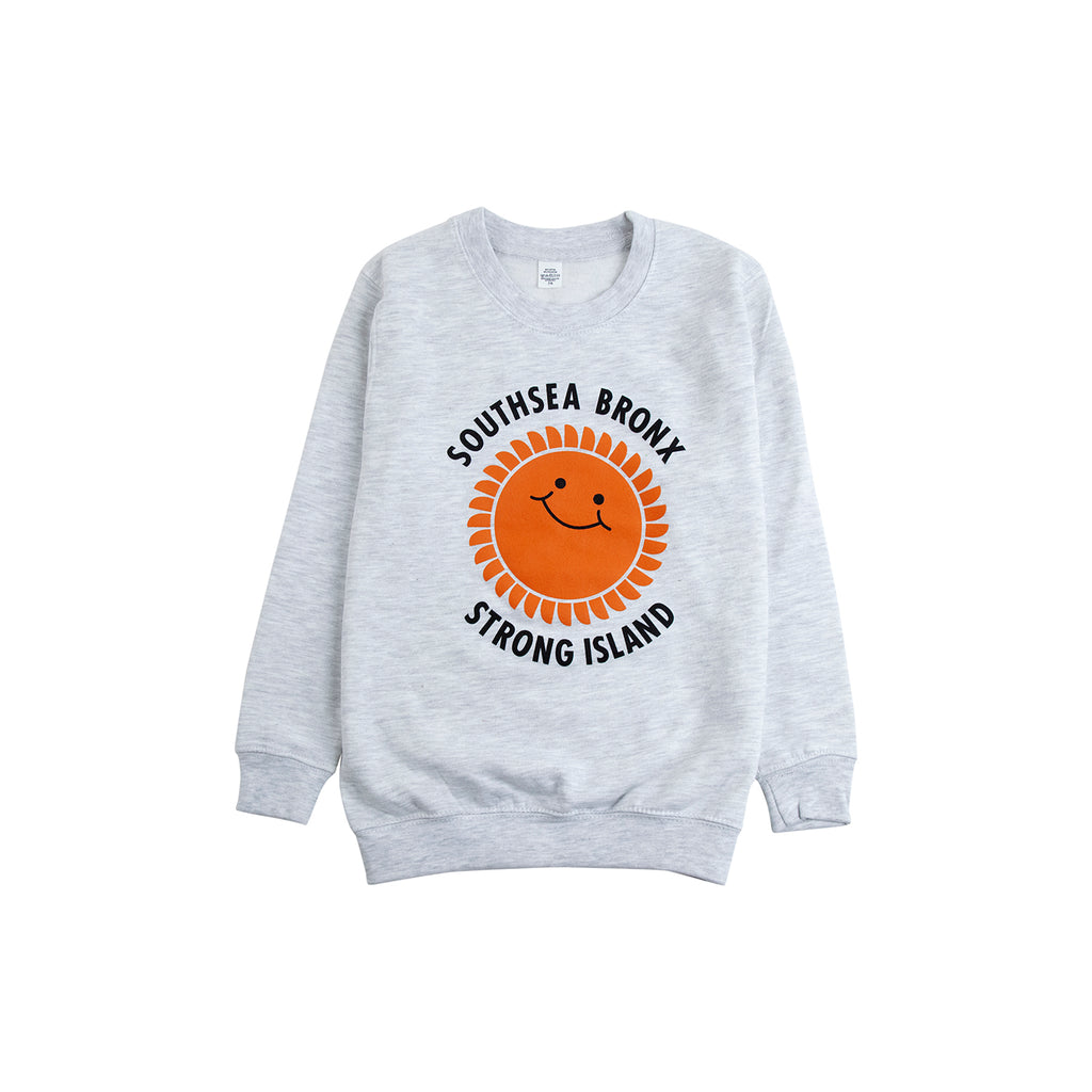 Southsea Bronx Strong Island Kids Sweatshirt in Grey