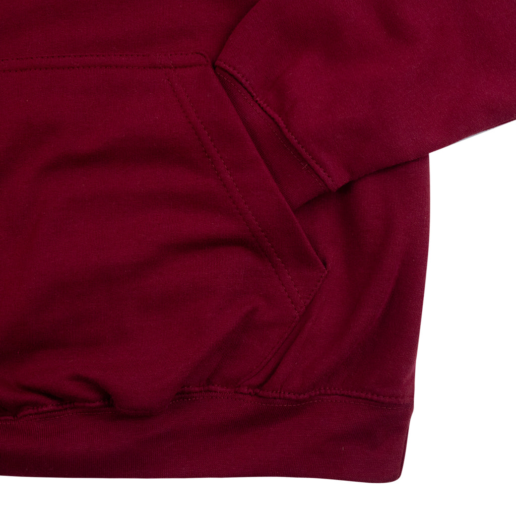 Southsea Bronx Strong Island Hoodie in Burgundy - Pocket