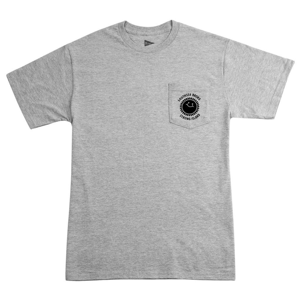 Southsea Bronx Strong Island Pocket T Shirt Grey Heather - Front