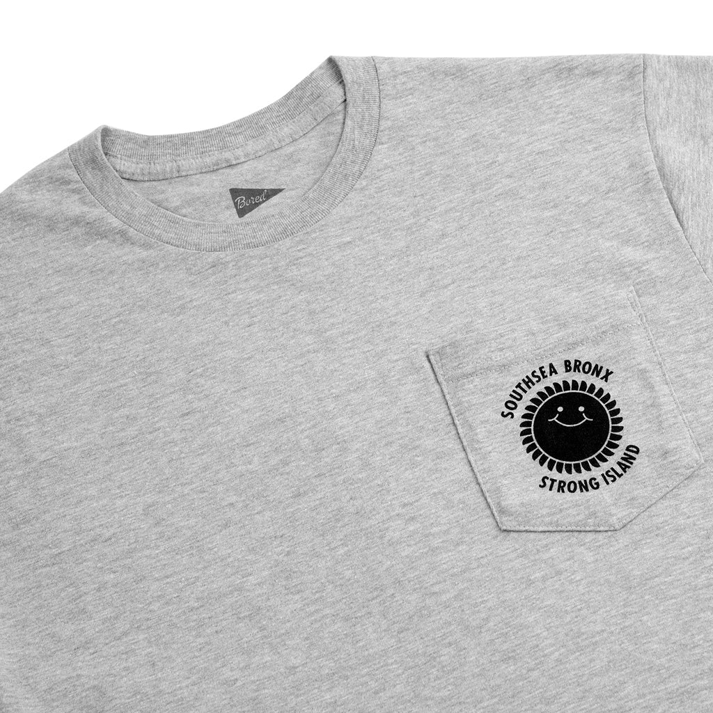 Southsea Bronx Strong Island Pocket T Shirt - Grey Heather