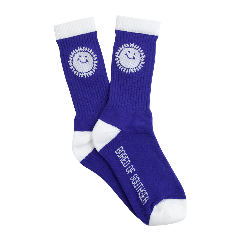 Southsea Bronx Strong Island Socks Royal / White - Paired