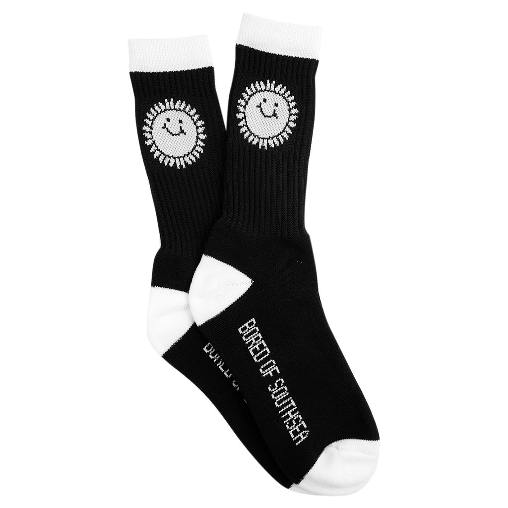 Southsea Bronx Strong Island Socks in Black / White
