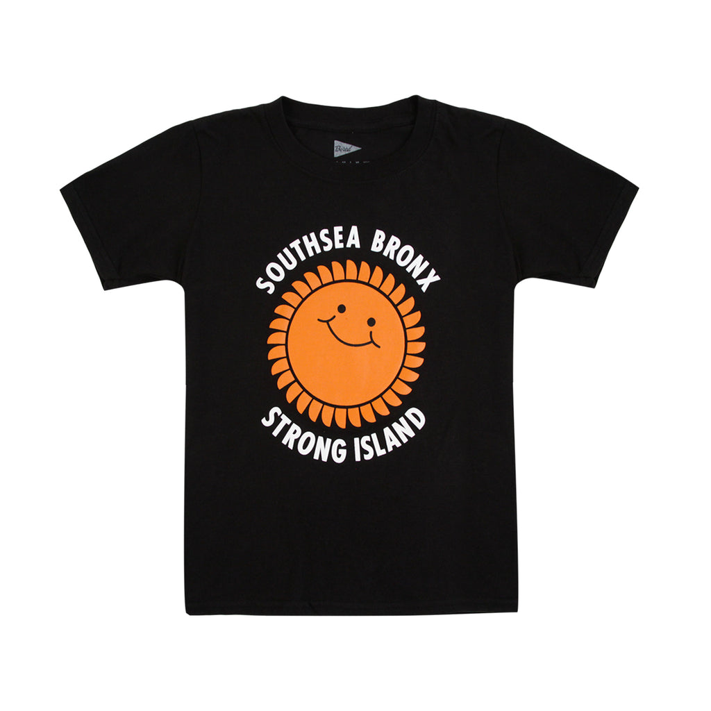 Southsea Bronx Strong Island Kids T Shirt in Black