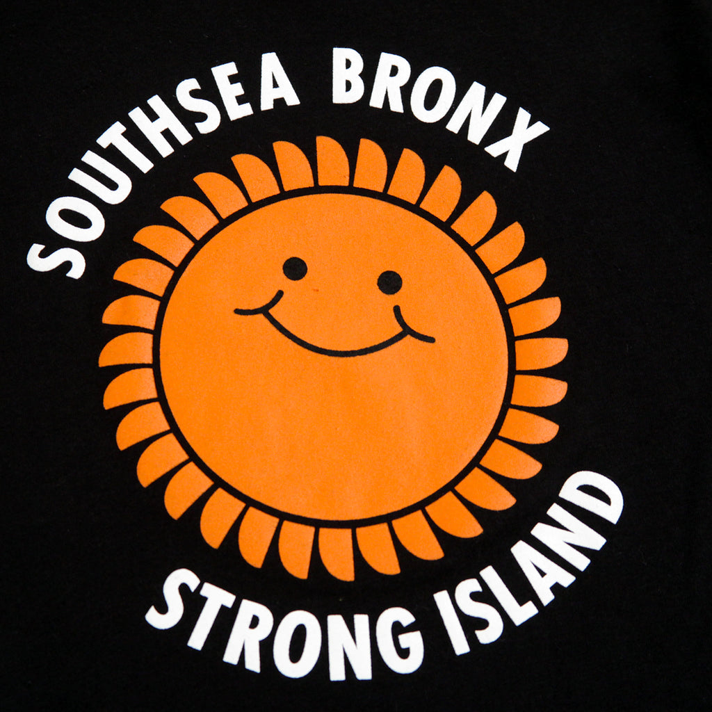 Southsea Bronx Strong Island Kids T Shirt in Black - Print