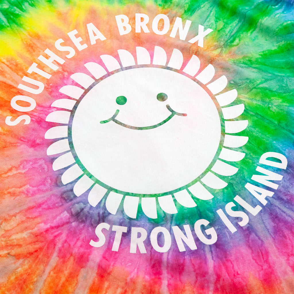 Southsea Bronx Strong Island T Shirt in Tie Dye - Print