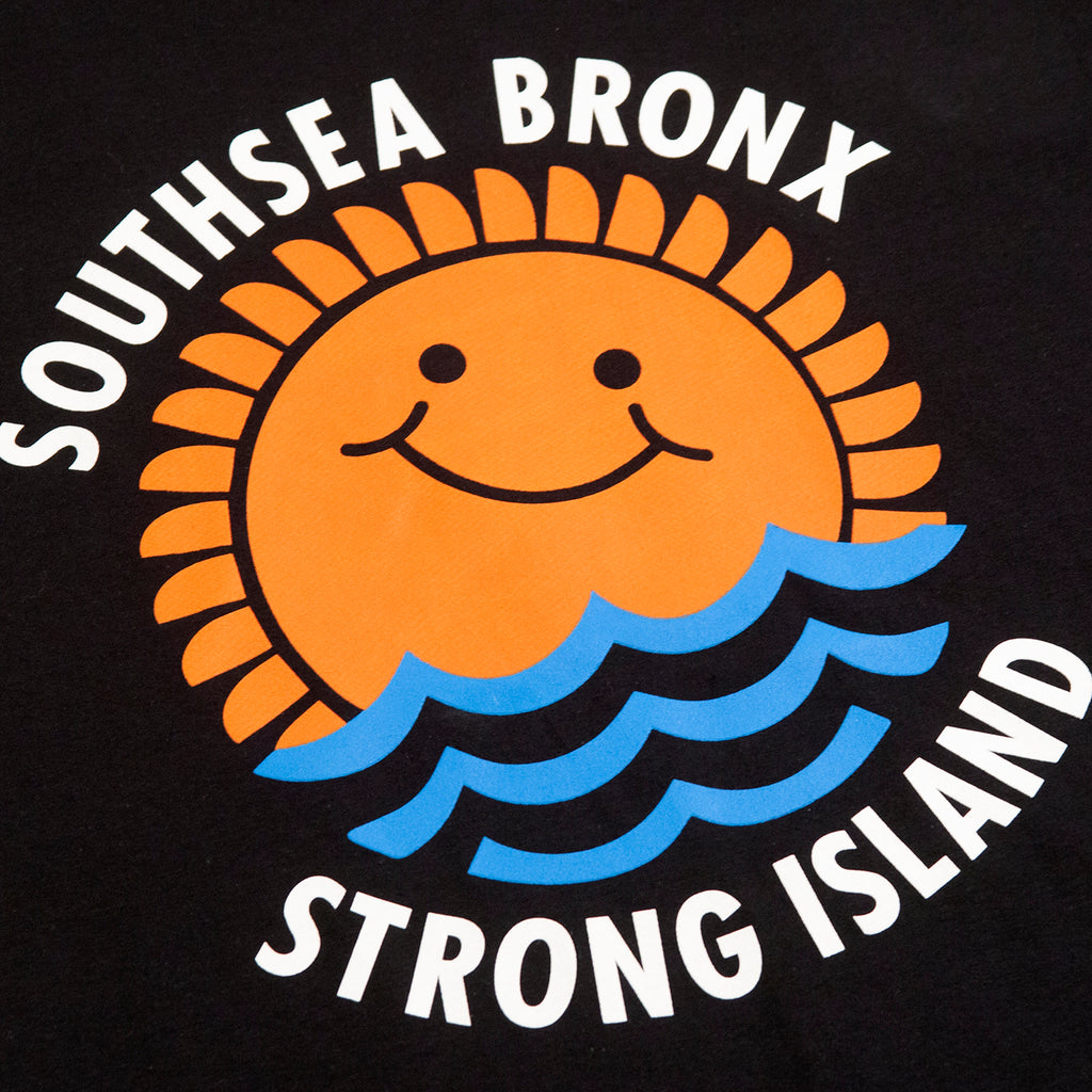 Southsea Bronx Waves T Shirt in Black - Print