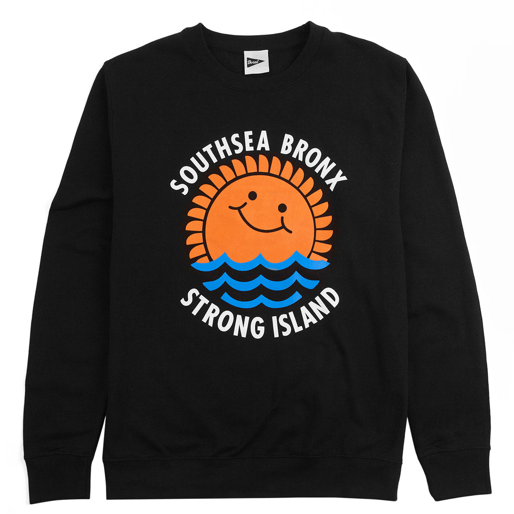 Southsea Bronx Waves Sweatshirt in Black