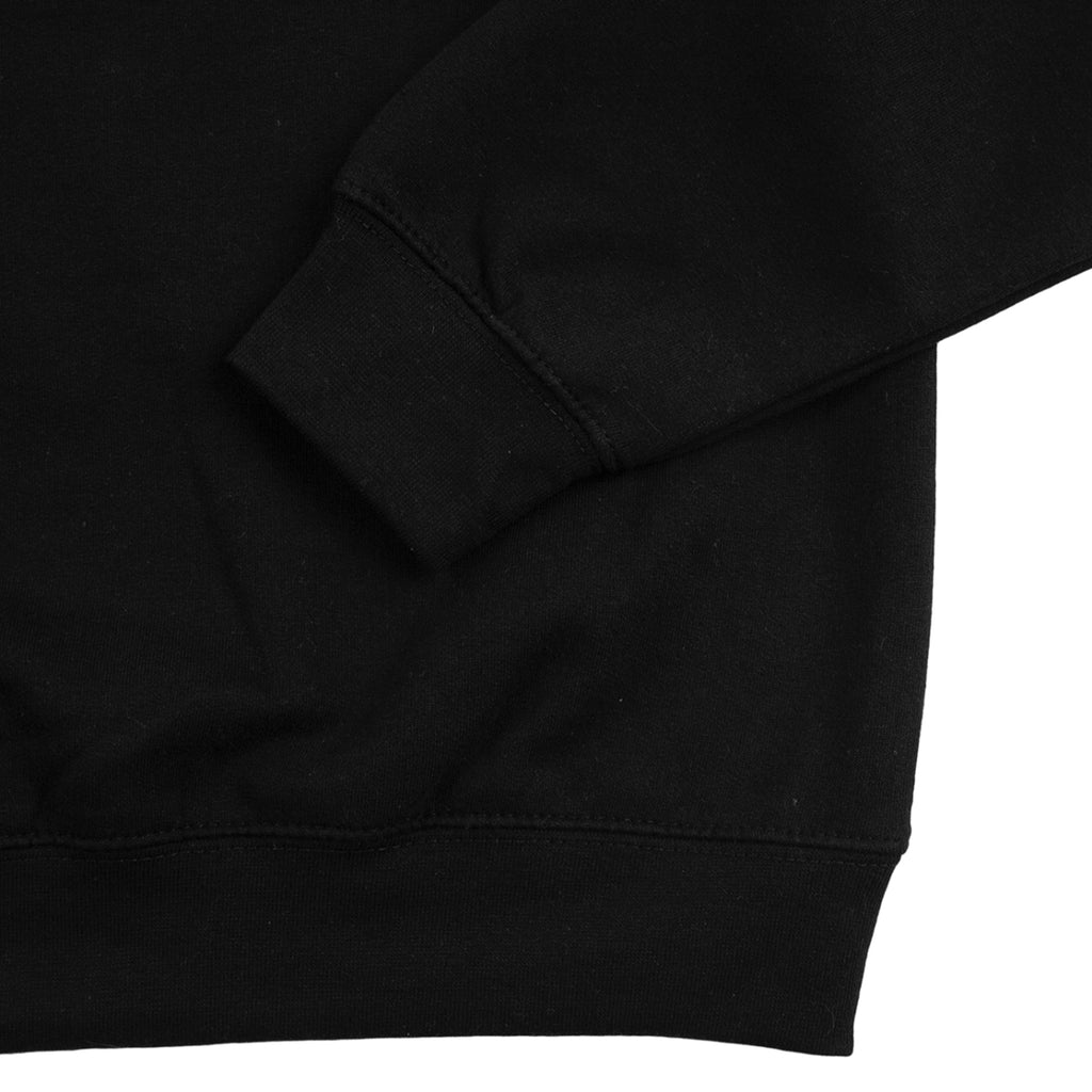 Southsea Bronx Strong Island Embroidered Quarter Zip Sweatshirt in Black - Cuff 2