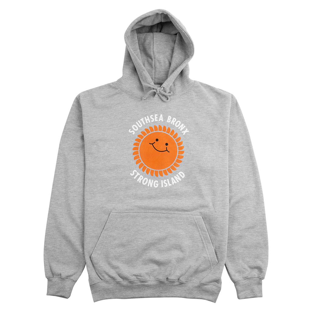 Southsea Bronx Strong Island Hoodie in Heather Grey