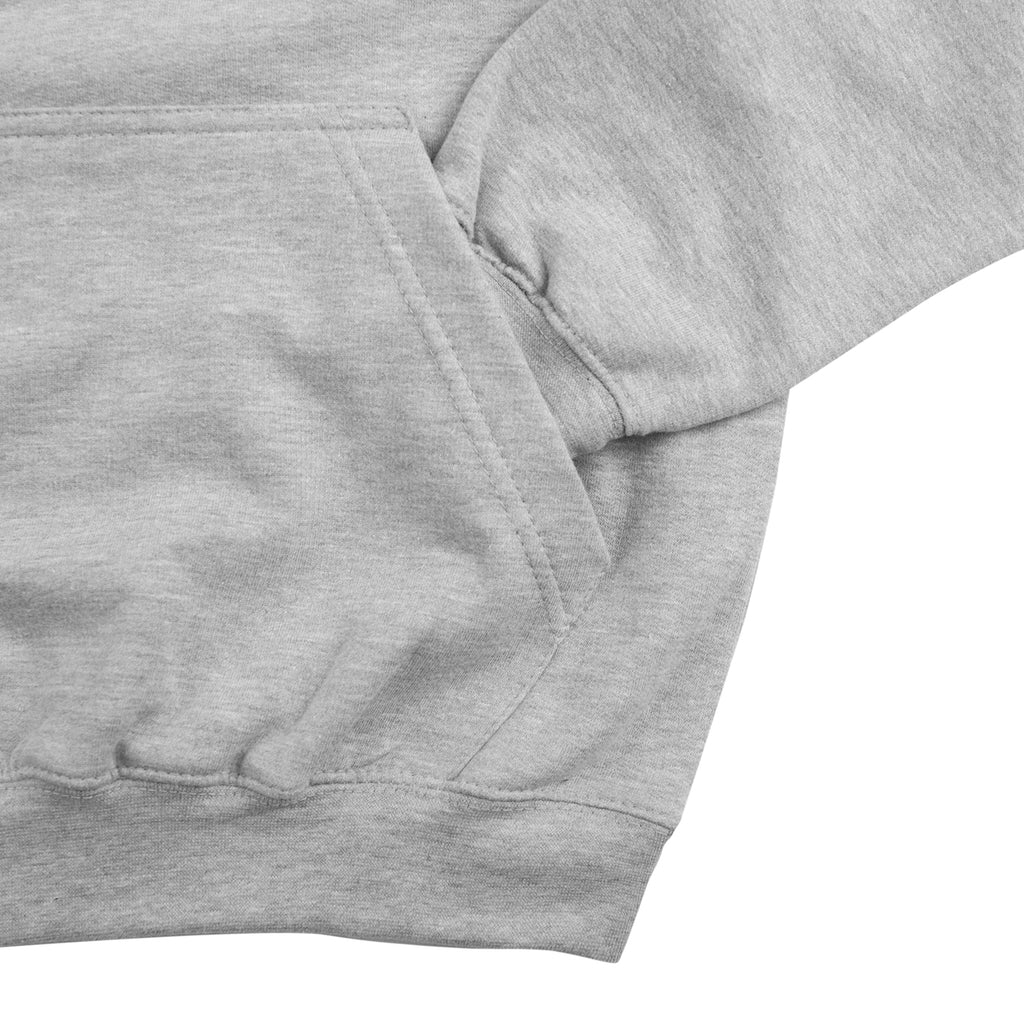 Southsea Bronx Strong Island Hoodie in Heather Grey - Pocket