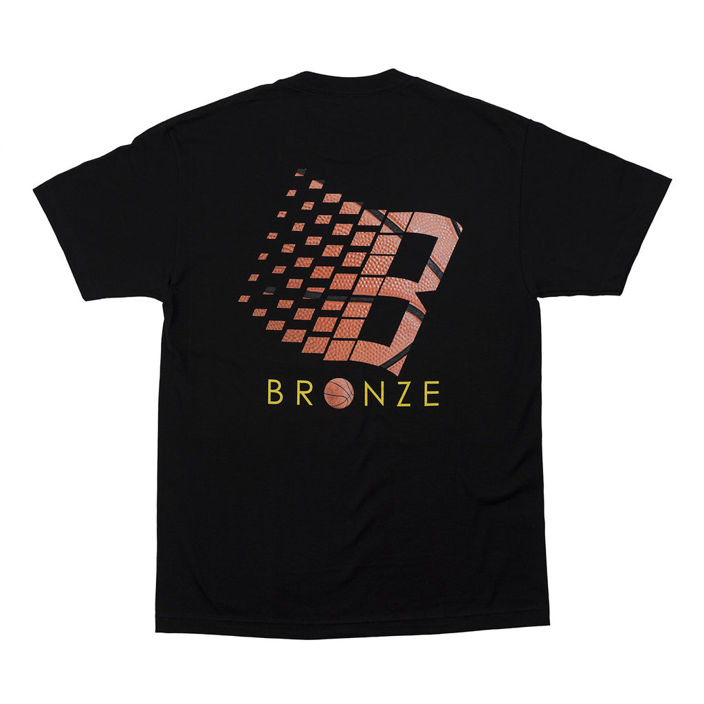 Bronze 56k Basketball Logo T Shirt in Black