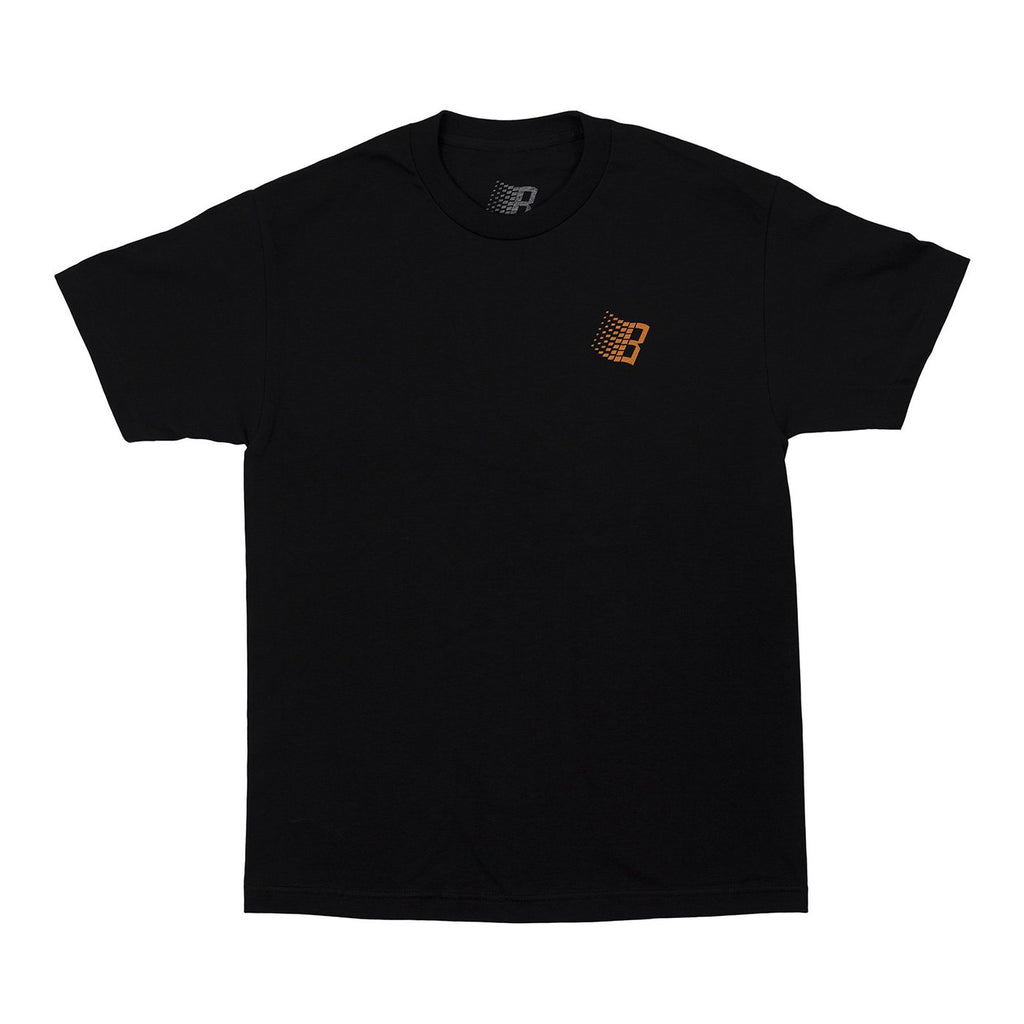 Bronze 56k Basketball Logo T Shirt in Black - Front