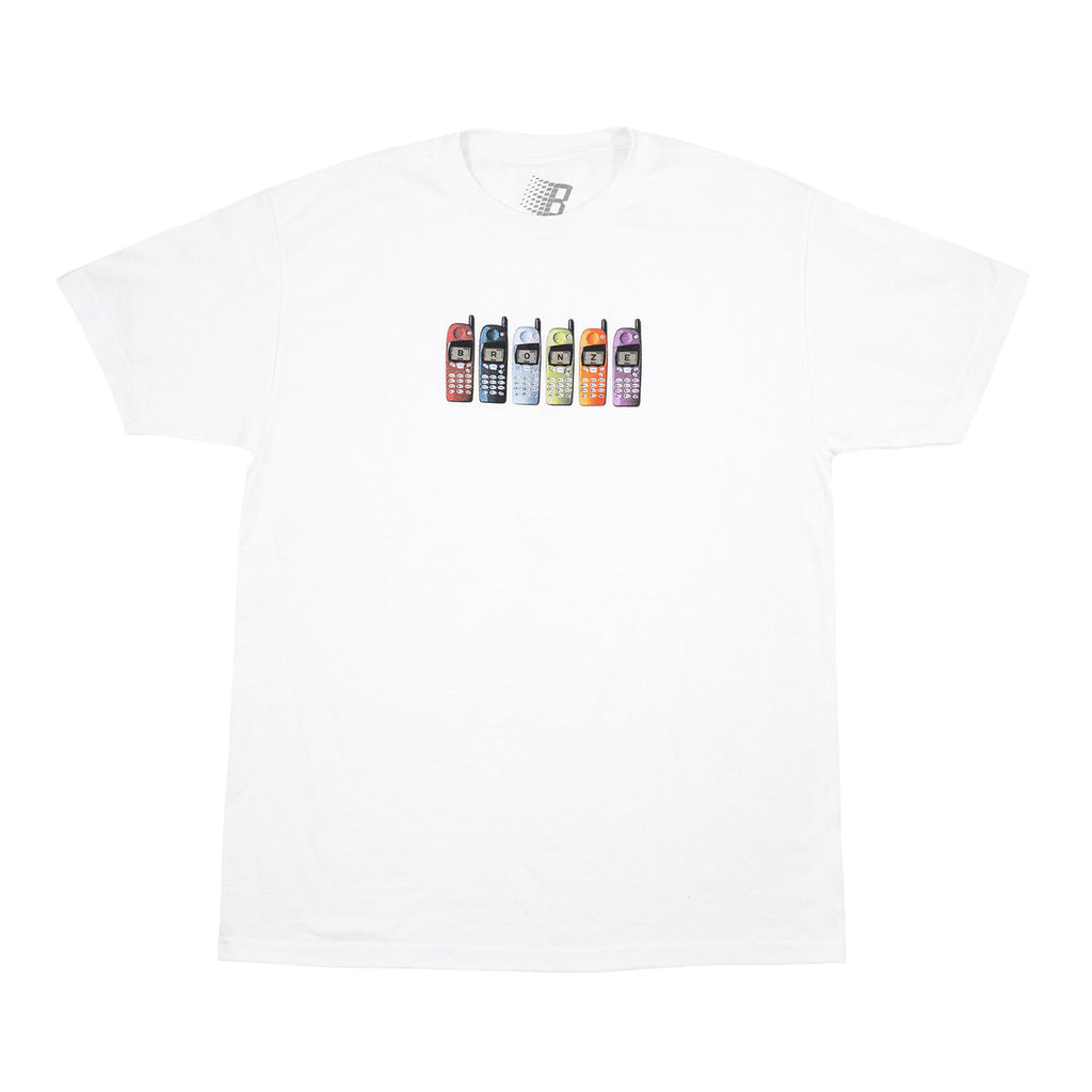 Bronze 56k Phones T Shirt in White
