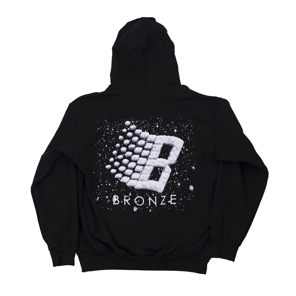 Bronze 56k Snow Logo Hoodie in Black