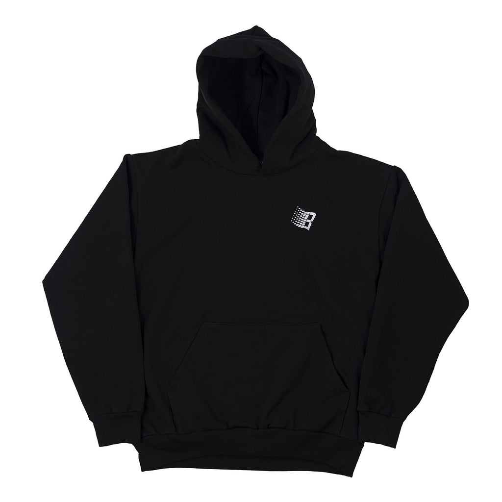 Bronze 56k Snow Logo Hoodie in Black - Front