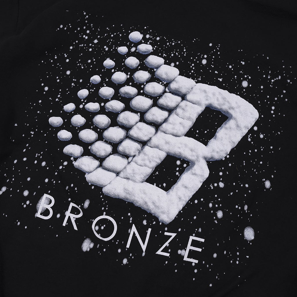 Bronze 56k Snow Logo Hoodie in Black - Print