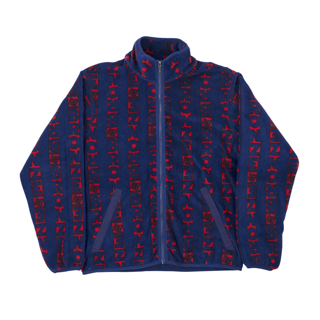 Bronze 56k Vertical Fleece in Navy / Red