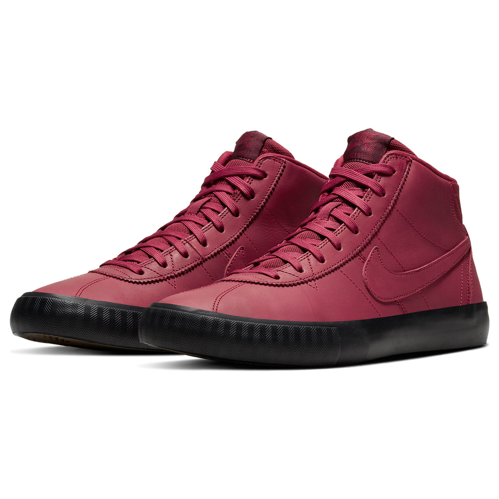 Nike SB Orange Label x Leo Baker Zoom Bruin Hi Shoes in Team Red / Night Maroon - Black - Pair