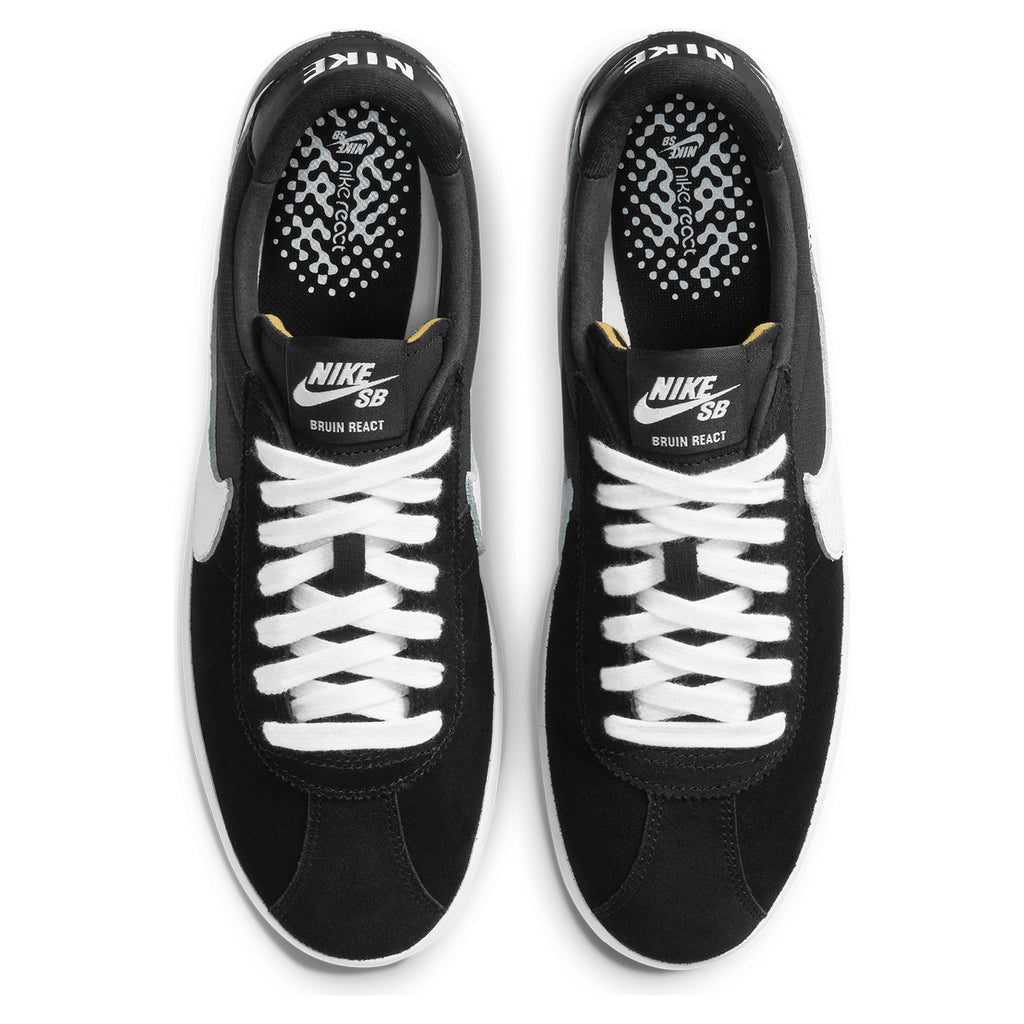 Nike SB Bruin React Shoes in Black / White - Anthracite - Top