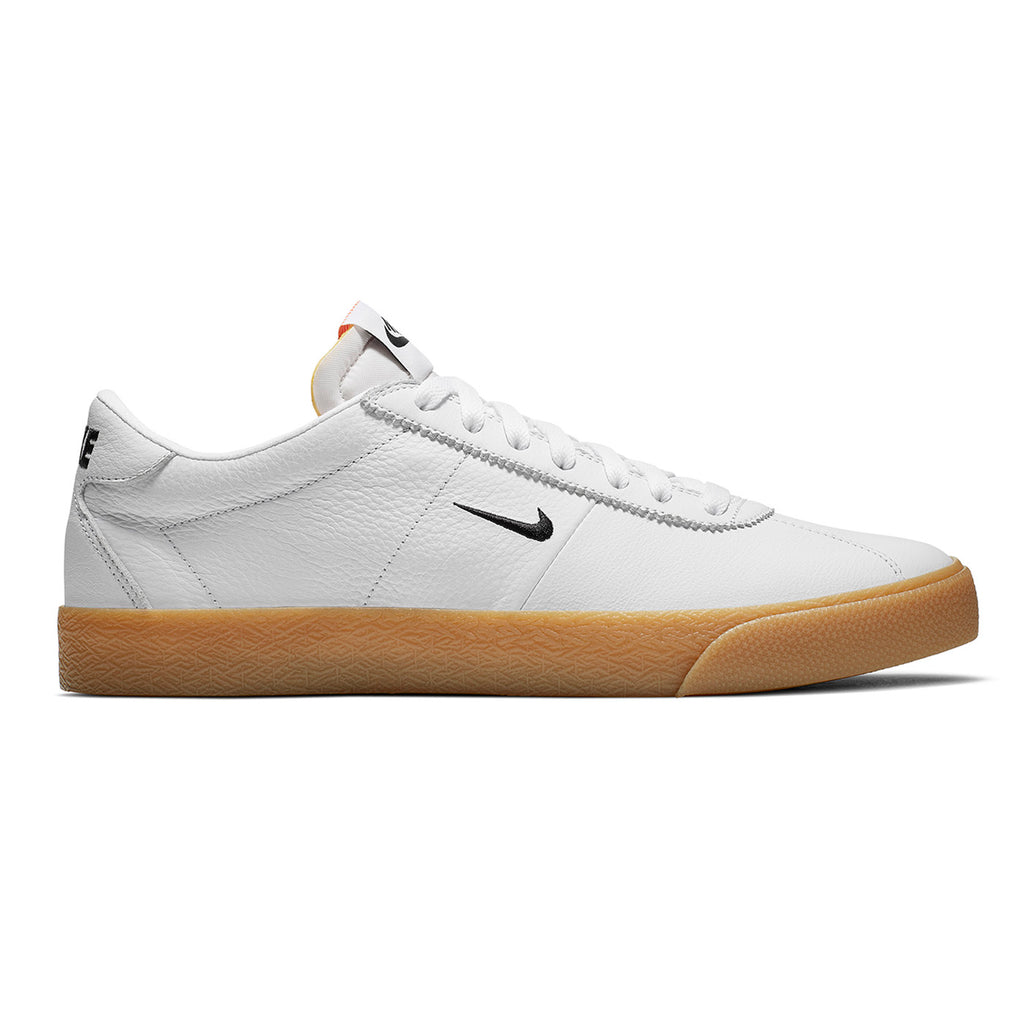 Nike SB Orange Label Zoom Bruin Shoes - White / Black in Safety Orange