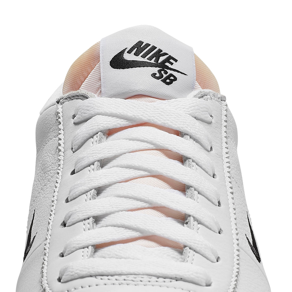 Nike SB Orange Label Zoom Bruin Shoes - White / Black in Safety Orange - Tongue