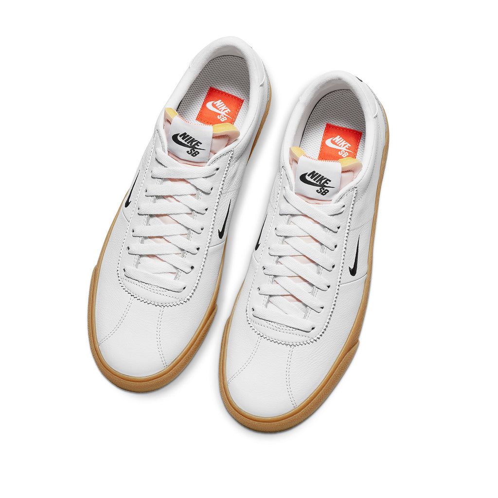 Nike SB Orange Label Zoom Bruin Shoes - White / Black in Safety Orange - Top