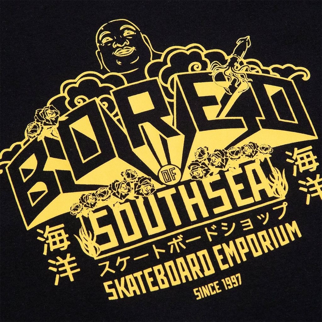 Bored of Southsea Buddha Emporium T Shirt in Black - Print