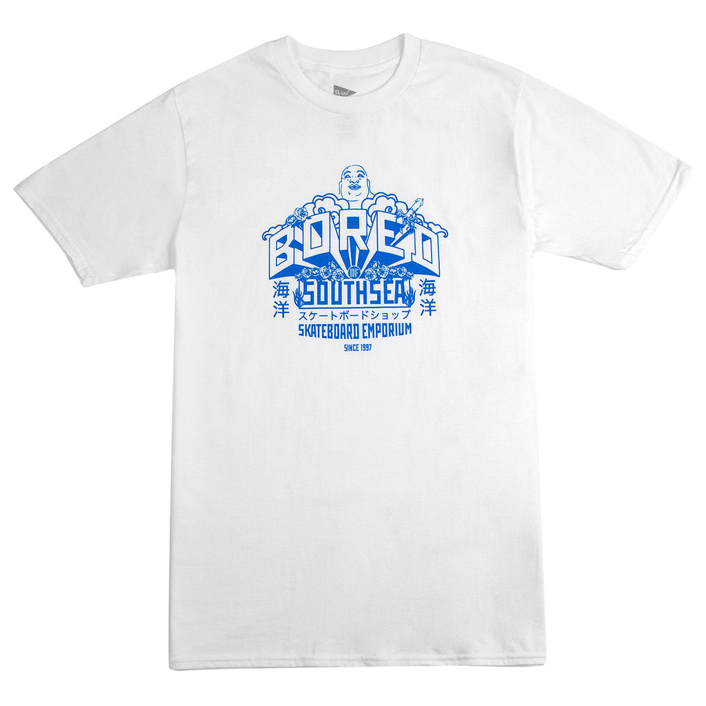 Bored of Southsea Buddha Emporium T Shirt in White